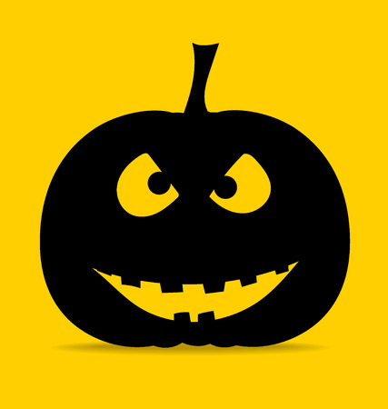 Happy Halloween design background with Halloween pumpkin. Vector