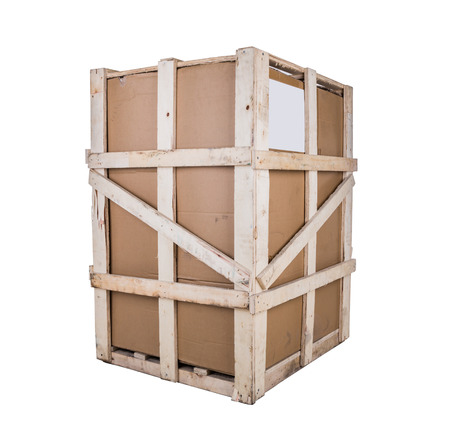 boxboard: Cardboard boxes with wooden reinforcement