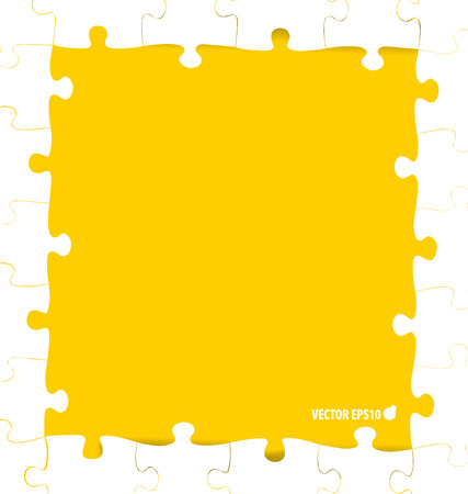missing link: Paper cut of Puzzle. Vector illustration. Illustration