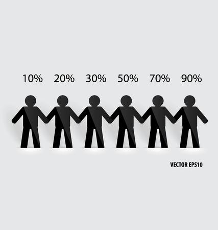 Social Network concept : People cut out of paper, vector illustration. Banco de Imagens - 31873254