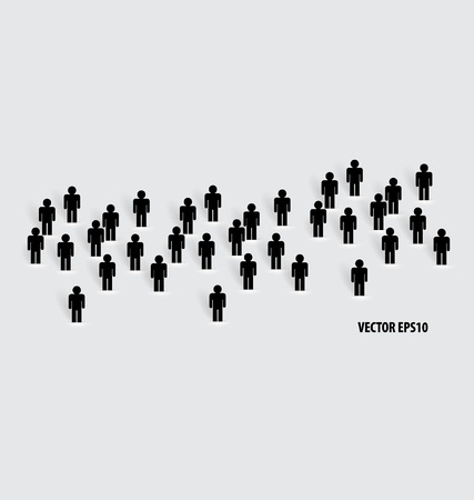 Social Network concept : People cut out of paper, vector illustration.