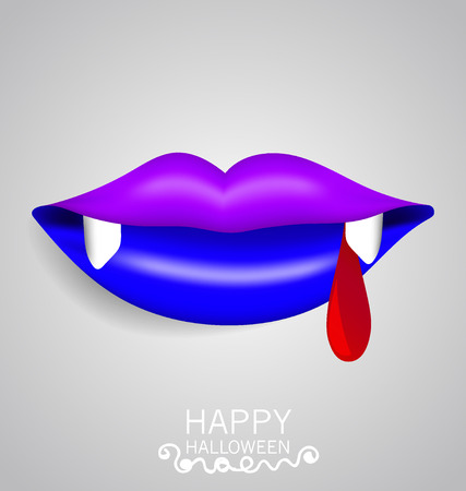 Happy Halloween design banners with blood. Vector illustration. Vector