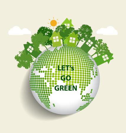 Green Eco Earth. Vector