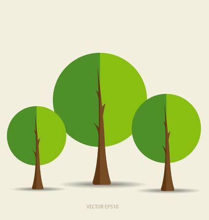 Paper green tree, vector illustration. Vector