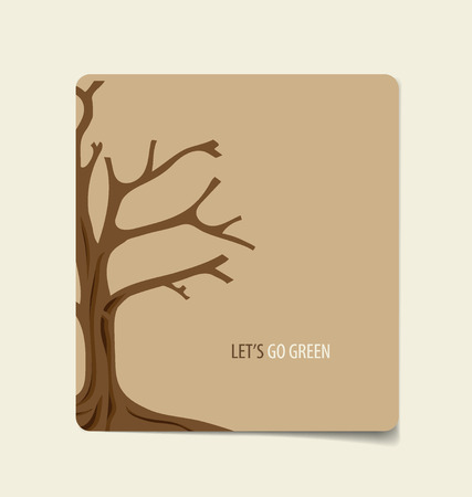 Nature banner, Paper with Tree, vector illustration. Vector