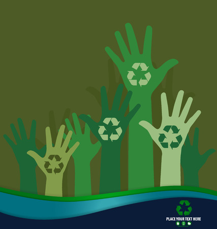 Think green, Ecology concept. Recycle symbol design, vector Illustration. Vector