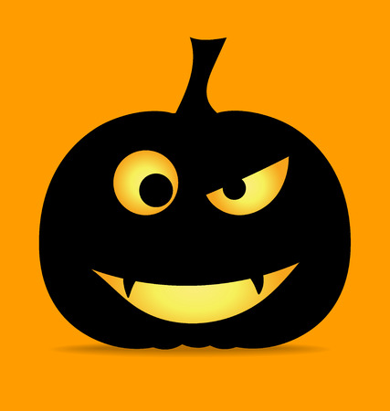 Happy Halloween design background with Halloween pumpkin. Vector illustration. Vector