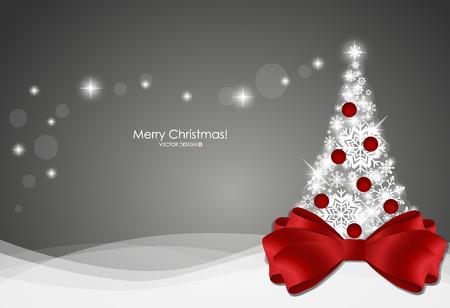 Kerst achtergrond met kerstboom, vector illustratie.