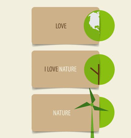 eco: Nature banner, Eco organic labels and cards. Vector illustration. Illustration