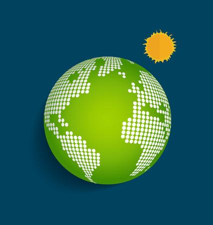 Green Earth. Vector Illustration. Vector