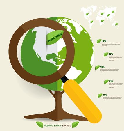Ecology Infographics design elements. Vector illustration. Vector