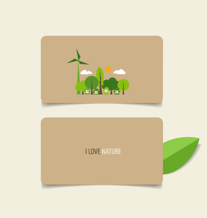 Nature banner, Eco organic labels and cards. Vector illustration. Vector