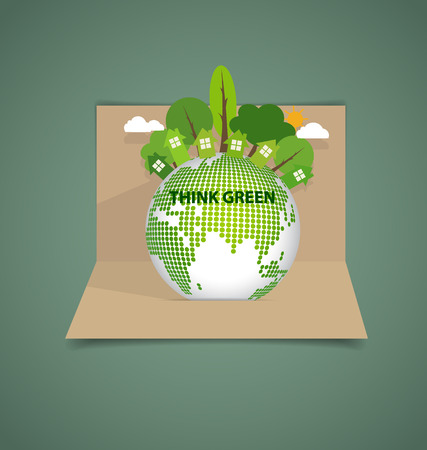 Green Eco Earth. Vector Illustration. Vector