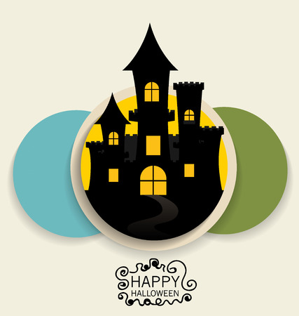 Happy Halloween design background. Vector illustration. Vector