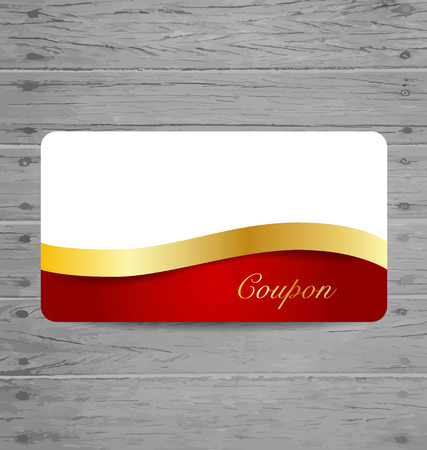 Gift Cards with gold ribbons. Vector illustration. Vector