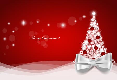 クリスマス ツリー、ベクトル図でクリスマスの背景。