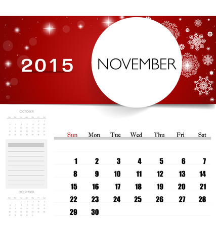 2015 Calendar Monthly Calendar Template For September Vector