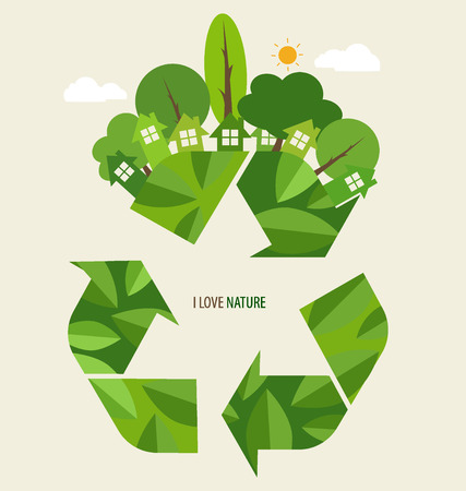 Recycle symbol. Vector symbol on the packaging, vector Illustration. Vector