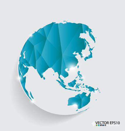 west asia: Modern globe design, vector illustration.