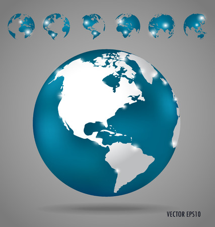 Modern globe design, vector illustration.