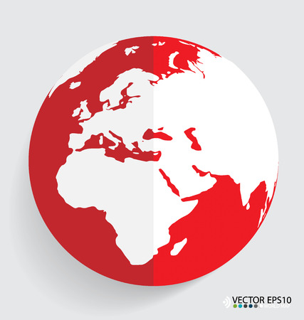 Modern globe design, vector illustration. Vector