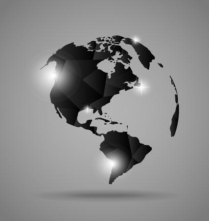 Modern globe design, vector illustration.