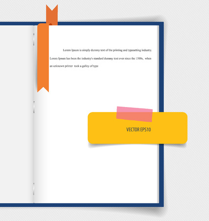 appointment book: Collection of various papers, paper designs ready for your message. Vector illustration.