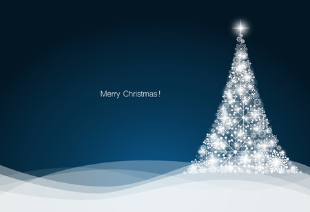 Christmas background with Christmas tree, vector illustration. Illustration