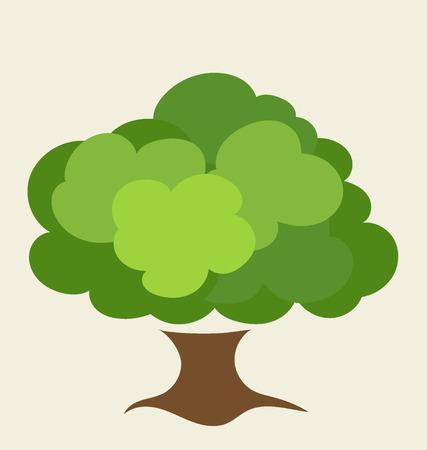 albero stilizzato: Albero stilizzato. Illustrazione vettoriale.