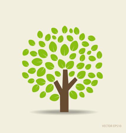 albero stilizzato: Albero stilizzato. Vettoriali