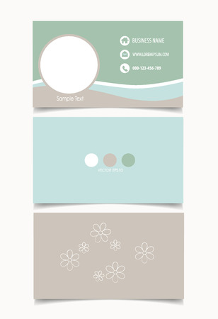 Business card template, illustration. Vector