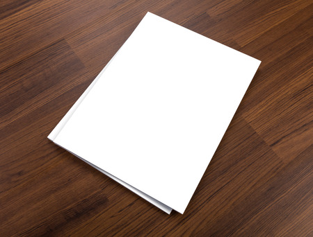 diary cover: Blank catalog,brochure, magazines,book mock up on wood background