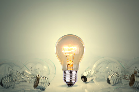 電球ランプ 写真素材