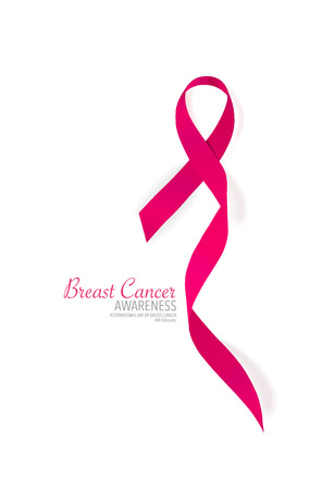 breast cancer awareness ribbon: Breast cancer awareness pink ribbon. Vector Illustration. Illustration