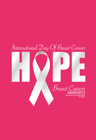 cancer symbol: Breast Cancer Awareness cards design. Vector Illustration. Illustration