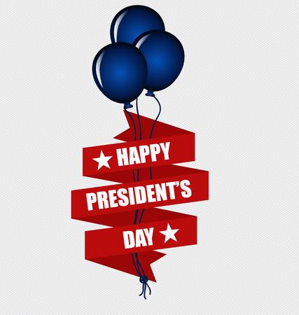presidents: Happy Presidents Day. Presidents day banner illustration design.