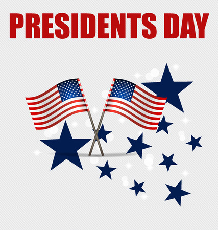 presidents day: Happy Presidents Day. Presidents day banner illustration design with american flag.