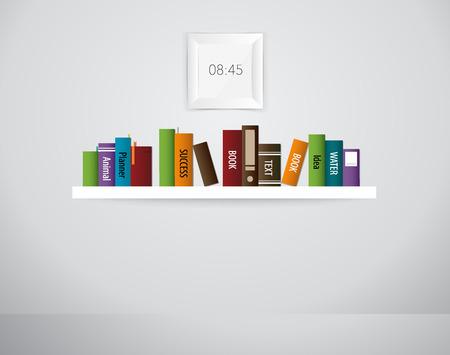 book shelf: Book shelf. Vector illustration.