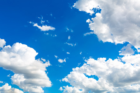 Heart cloud in the blue sky photo