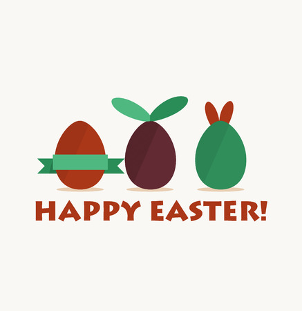Happy easter cards with easter egg. Vector illustration. Vector