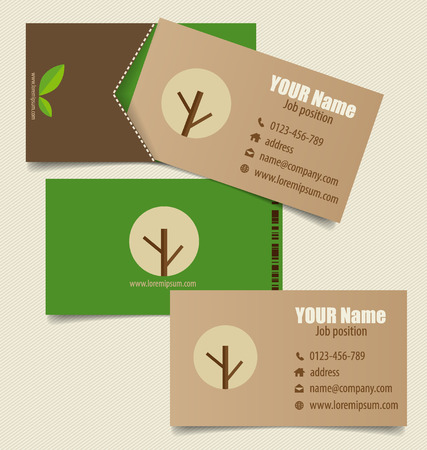 Modern business card template with nature background vector modern business card template with nature background vector illustration stock vector 38122431 reheart Images