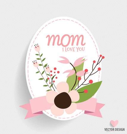 fathers day background: Happy Mothers Day with Floral bouquets background, vector illustration.