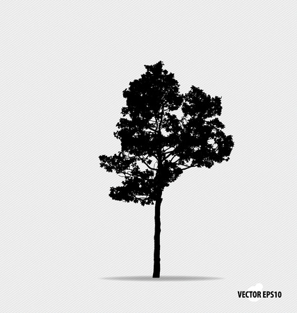 tree leaf: Tree silhouette. Vector illustration. Illustration
