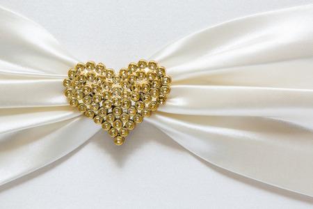 tsavorite: Heart shape diamond on fabric