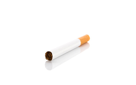 Cigarette isolated on a white background photo