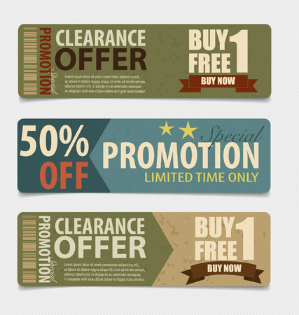 coupon: Sale Coupon, voucher, tag. Vintage Style template Design vector illustration. Illustration