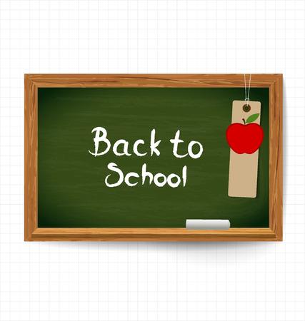 knutsel spullen: Welkom terug naar school, vector illustratie. Stock Illustratie