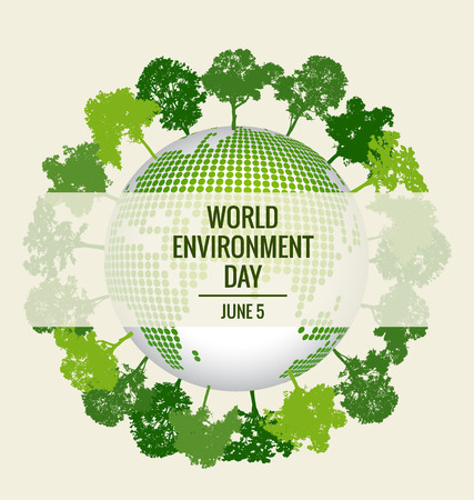 environment friendly: World environment day concept. Green Eco Earth