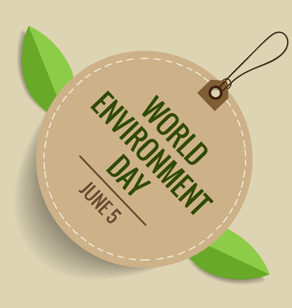 ecological environment: Nature banner. World environment day concept. Vector illustration.