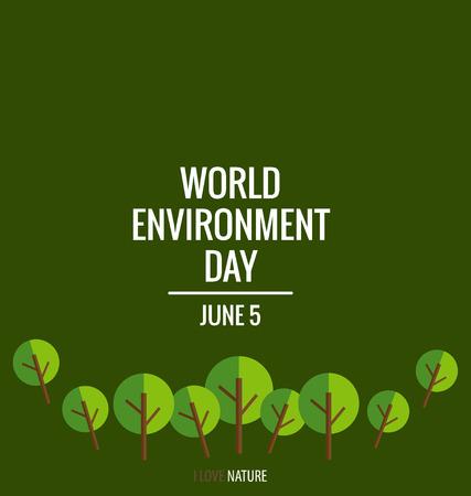 medio ambiente: Entorno Mundial concepto de día con el fondo del árbol. Ilustración del vector.